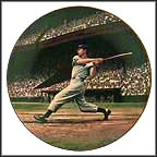 Joe Dimaggio: The Streak Collector Plate by Stephen Gardner