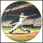 Joe Dimaggio: The Streak - Autographed by Joe DiMaggio Collector Plate by Stephen Gardner