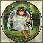 An Angel's Affection Collector Plate by Donna Brooks