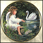 An Angel's Sharing Collector Plate by Donna Brooks