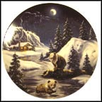 "Two Cubs Play As Spirits Show The Way Collector Plate by D. L. ""Rusty"" Rust MAIN"
