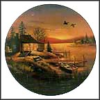 "Sunset Cabin Collector Plate by D. L. ""Rusty"" Rust MAIN"
