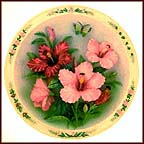 Hibiscus Garden Collector Plate by Lena Liu MAIN