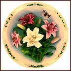 Lily Garden Collector Plate by Lena Liu MAIN
