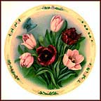 Tulip Garden Collector Plate by Lena Liu MAIN