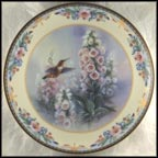 Whispering Wings Collector Plate by Lena Liu