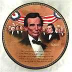 The Lincoln-Douglas Debate Collector Plate by Robert A. Maguire