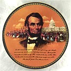 The Second Inaugural Address Collector Plate by Robert A. Maguire