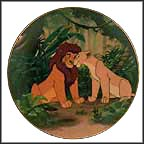 Courting The Future King Collector Plate by Disney Studio Artists