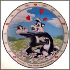 Sunday's 'Toon Thinks Love Is No Joke Collector Plate by Craig Nelson MAIN