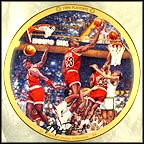 1986 Playoffs Collector Plate by Chuck Gillies