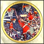 1988 Slam Dunk Champion Collector Plate by Chuck Gillies