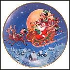 Santa's Favorite Helpers Collector Plate by Disney Studio Artists