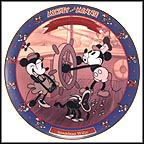 Steamboat Willie 1928 Collector Plate by Disney Studio Artists