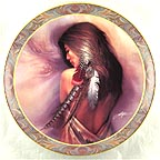 White Feather Collector Plate by Lee Bogle MAIN