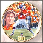 John Elway Collector Plate by Rick Brown
