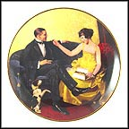 February: Flirting In The Parlor Collector Plate by Norman Rockwell