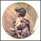 March: Faith Collector Plate by Norman Rockwell