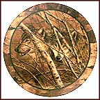 Forest Echo Collector Plate by David Wenzel