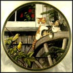 Surprise Visit Collector Plate by Persis Weirs