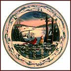 Evening In Pinegrove Collector Plate by Sam Timm