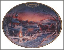 January - Sharing The Evening Collector Plate by Terry Redlin MAIN