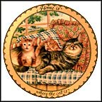 Home Is Where The Cat Is Collector Plate by Karen Murray