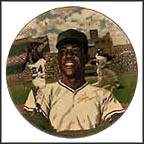 Willie Mays Collector Plate by Ted Sizemore