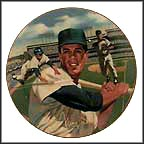 Maury Wills Collector Plate by Ted Sizemore