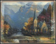 Autumn - The Mountain Chapel Collector Plate by Thomas Kinkade MAIN