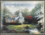 Spring - Hometown Chapel Collector Plate by Thomas Kinkade