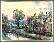 Lamplight Lane Collector Plate by Thomas Kinkade