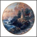 April - The Light Of Peace Collector Plate by Thomas Kinkade