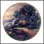 August - A New Day Dawning Collector Plate by Thomas Kinkade