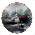 June - Hometown Chapel Collector Plate by Thomas Kinkade