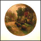 September - Cobblestone Lane Collector Plate by Thomas Kinkade