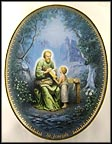 Saint Joseph Collector Plate by Hector Garrido MAIN