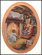 Winter Story Collector Plate by Jill Barklem MAIN