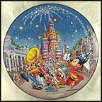 A Birthday Celebration Collector Plate by Disney Studio Artists