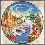 Frontierland Collector Plate by Disney Studio Artists