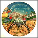 Tomorrowland Collector Plate by Disney Studio Artists