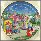Mickey's Toon Town Fair Collector Plate by Disney Studio Artists