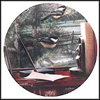 The Den: Black-Capped Chickadees Collector Plate by Kevin Daniel