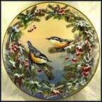 A Frosty Season Collector Plate by Sam Timm MAIN