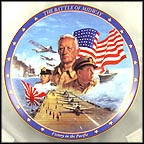 The Battle Of Midway Collector Plate by James Griffin