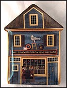 The Stoolpidgeon Gossip Shop Collector Plate by Charles Wysocki