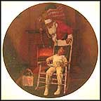 A Visit From Santa Collector Plate by Robert Charles Howe MAIN