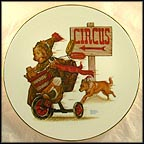 Going To The Circus Collector Plate by Robert Charles Howe