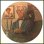 Tribute To Norman Rockwell Collector Plate by Robert Charles Howe
