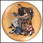 Planning Mother's New House Collector Plate by Norman Rockwell